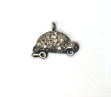 Car Shape Pave Diamond Charm .925 Oxidized Sterling Silver Diamond Charms, Genuine handmade pave diamond Charm Size 15x20 MM
