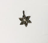 Pave Diamond Charm .925 Oxidized Sterling Silver Diamond Charms, Genuine handmade pave diamond Charm Size 13x19 MM