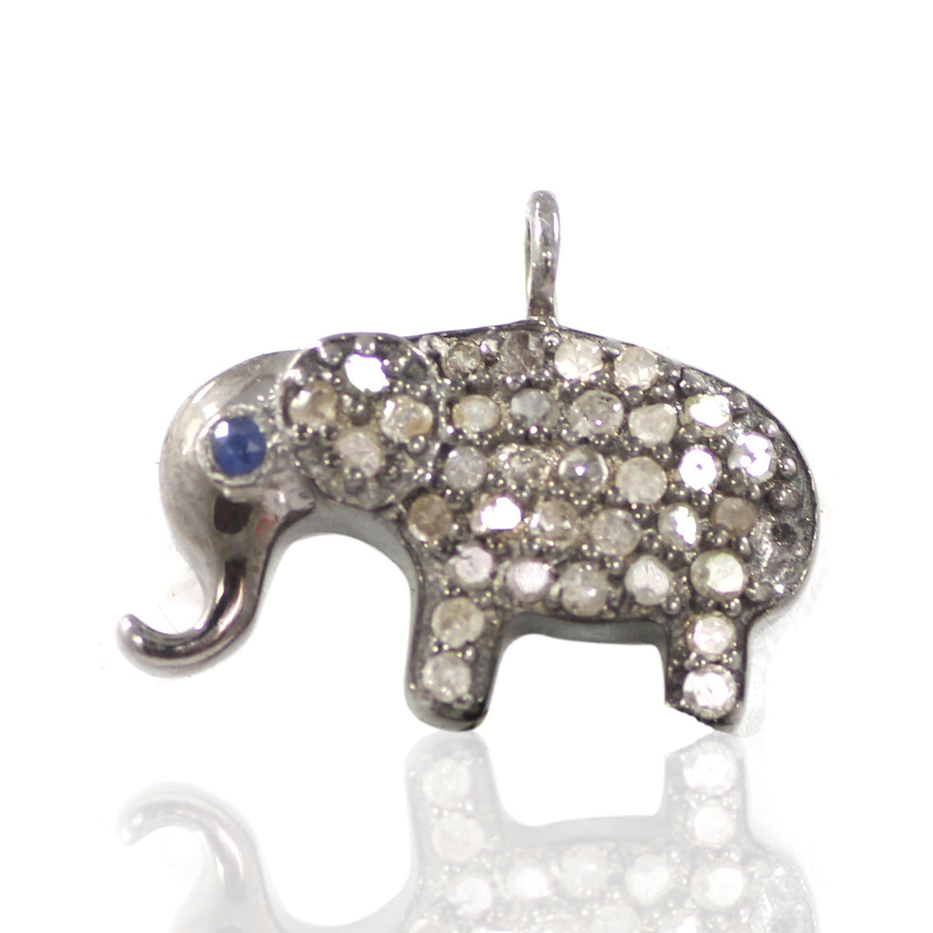 Elephant Shape Diamond Pendants & Charms