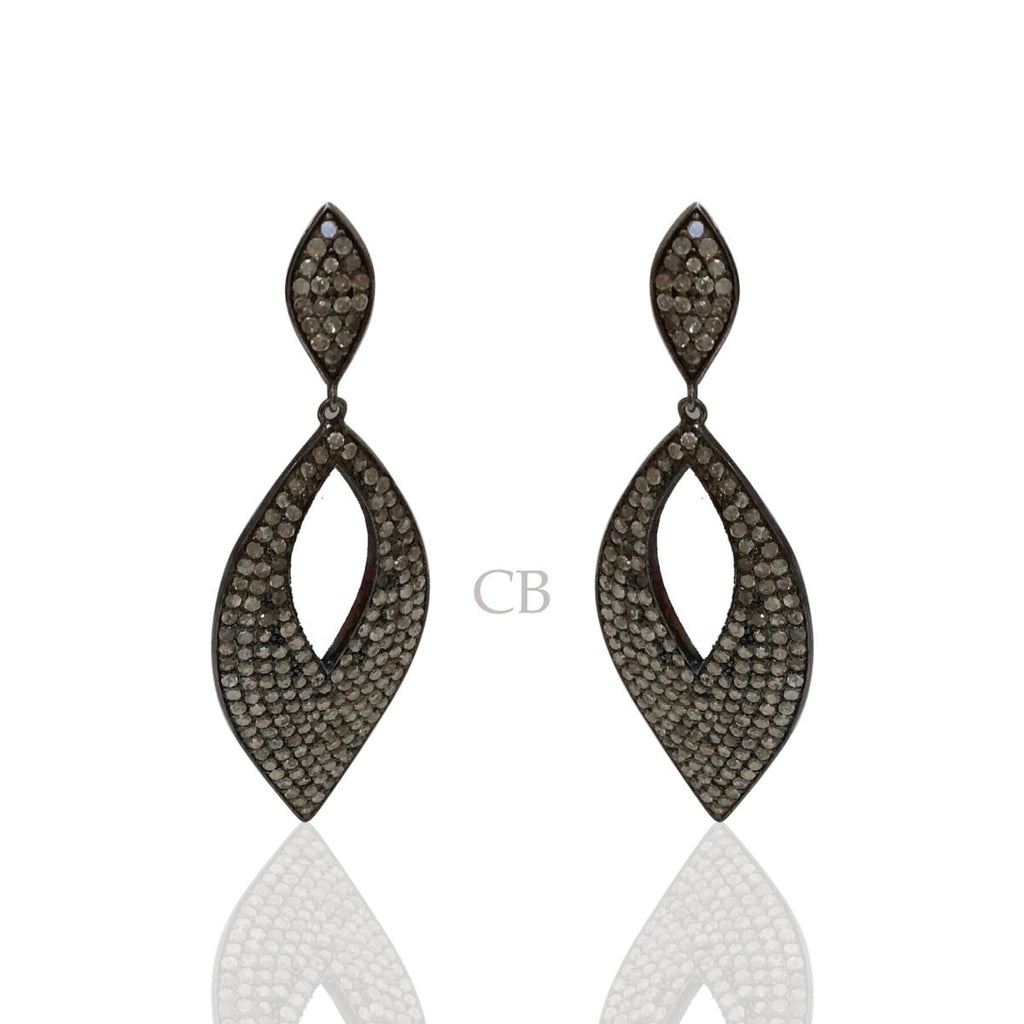 Open Marquise Shape Diamond Earring