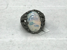 Opal Embedded Diamond Ring