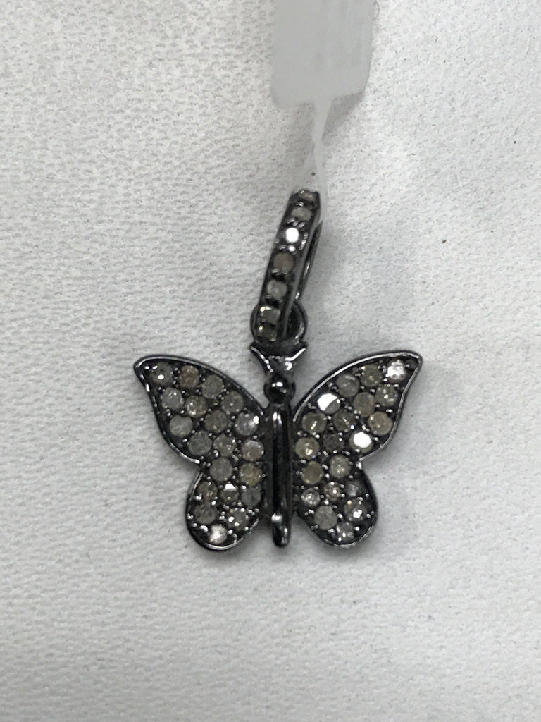 Butterfly Shape Diamond Pendant Charm