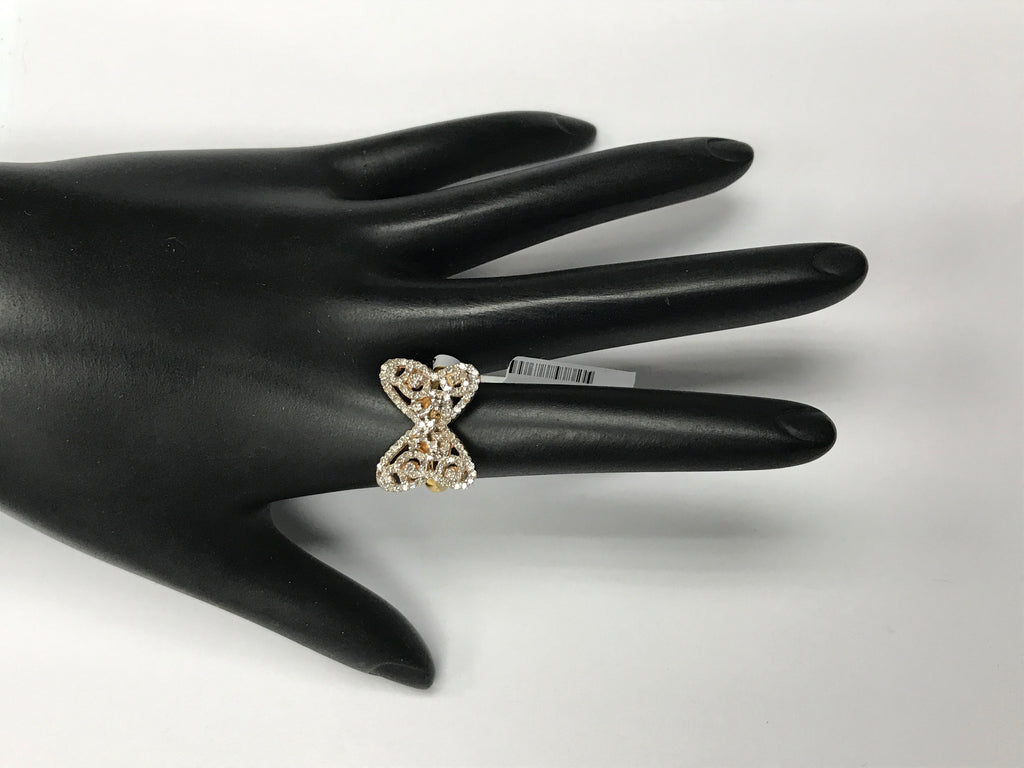 14k solid Gold Butterfly Shape Diamond Rings. Genuine handmade pave diamond Rings. Approx Size (19 x 15 mm)