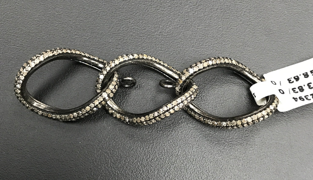 Chain Link Sterling Silver Connector
