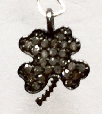 Flower Diamond charm .925 Oxidized Sterling Silver Diamond Charms, Genuine handmade pave diamond Charm Size 10 x 14 MM