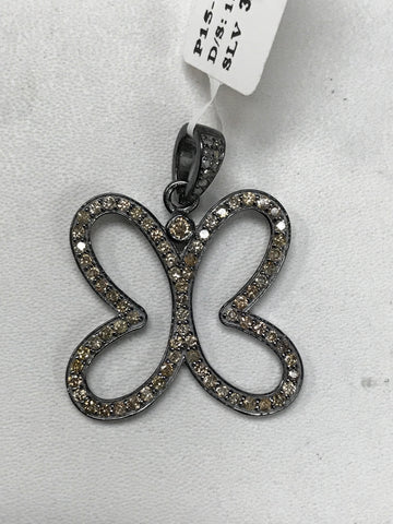 Butterfly (Hollow) Diamond Charm