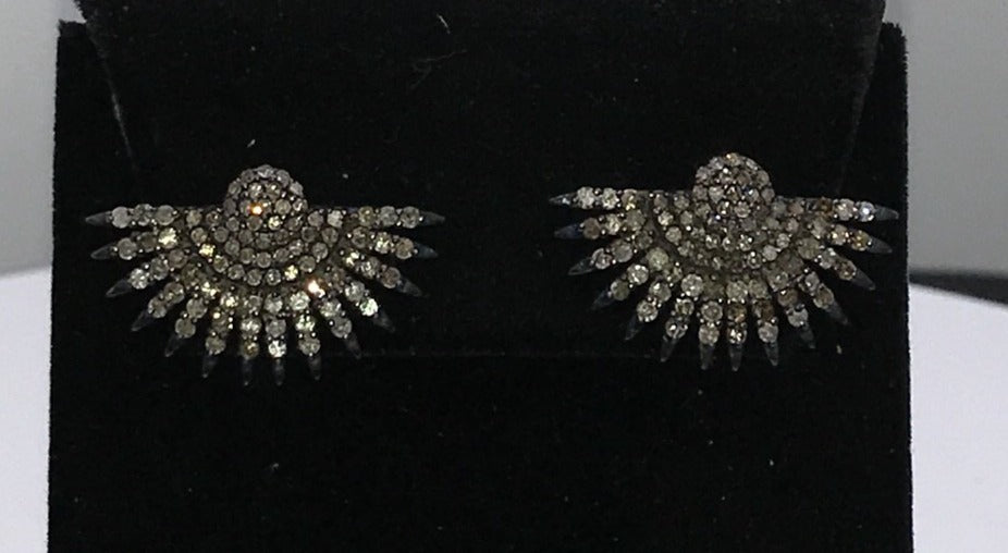 Sunflower Shape Designer Diamond Earring