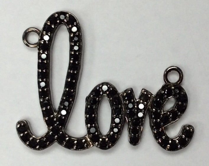Love Black Spinel Charm