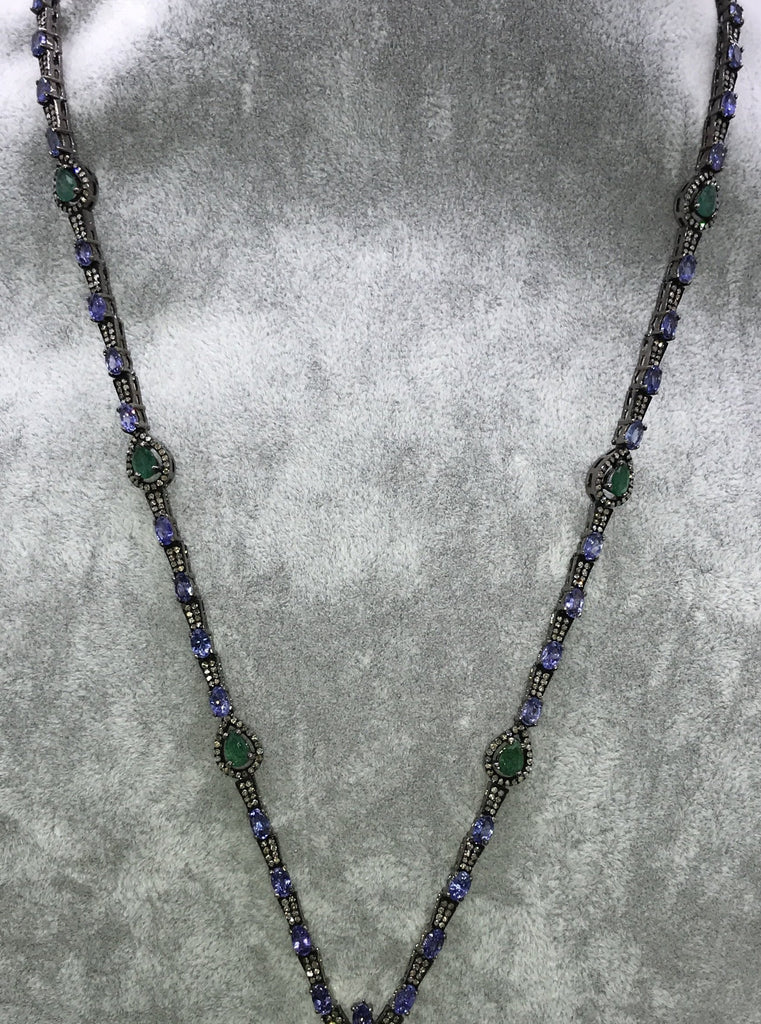 Tanzanite and Diamond Necklace