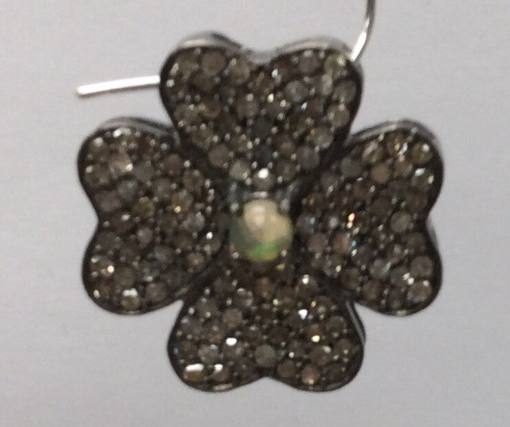 Flower with Opal Diamond  Charm