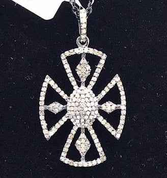 Cross Shape Diamond Pendant