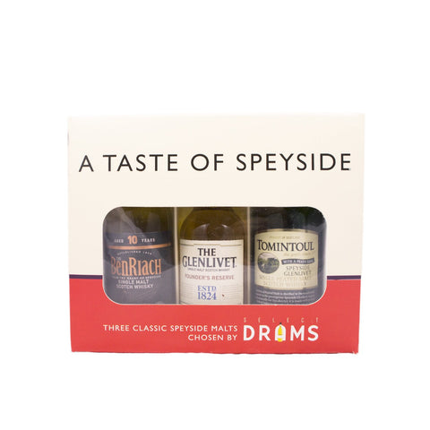 A TASTE OF SPEYSIDE WHISKY MINIATURES SET 3X5CL