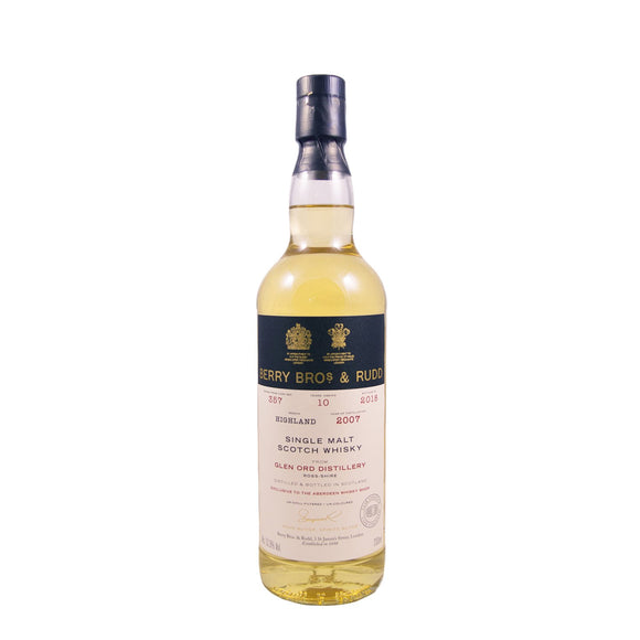 GLEN ORD 10 YEARS OLD BERRY BROS. & RUDD 70CL 52.3% SHOP EXCLUSIVE