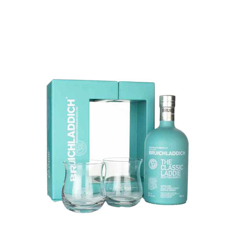 BRUICHLADDICH GIFT SET 70CL + 2 GLASSES - Aberdeen Whisky Shop