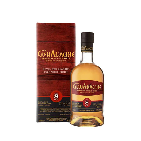 GLENALLACHIE 8 YEARS OLD KOVAL RYE FINISH 70CL 48% - Aberdeen Whisky Shop