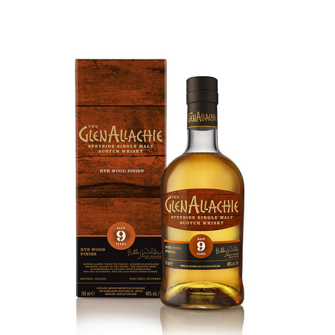 GLENALLACHIE 9 YEARS OLD RYE WOOD FINISH 70CL 48%