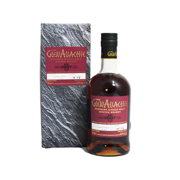 GLENALLACHIE 2007 SINGLE CASK - SHOP EXCLUSIVE- 70CL 60.5%