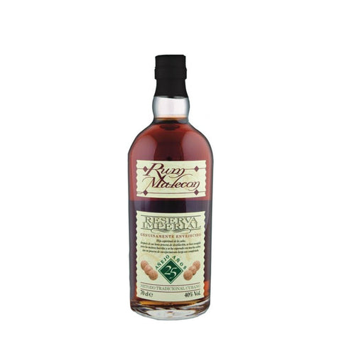 MALECON 25YO RESERVA RUM 70CL 40% - Aberdeen Whisky Shop