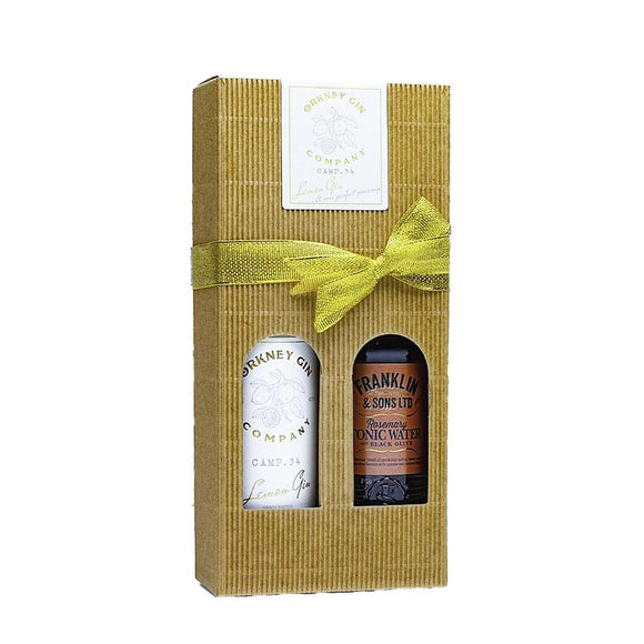 Orkney Gin Company Camp 34 Lemon Gin and Perfect Pairing Gift Box