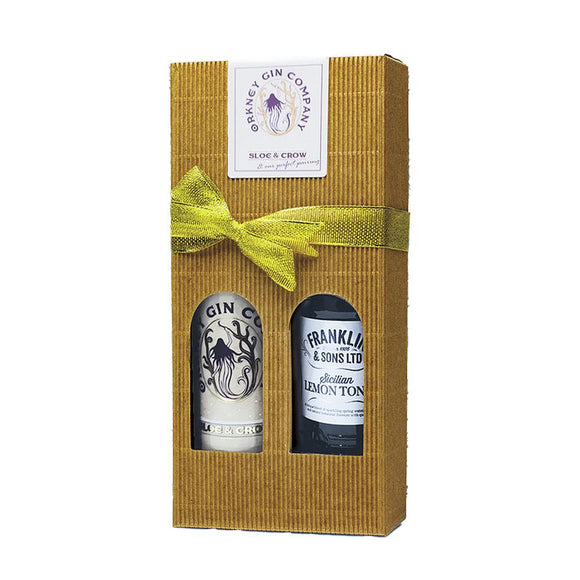 Orkney Gin Company Sloe & Crow and Perfect Pairing Gift Box