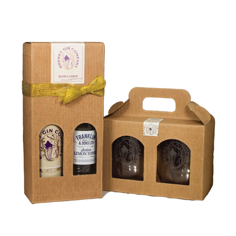 ORKNEY GIN COMPANY SLOE & CROW AND GLASSES SET - Aberdeen Whisky Shop