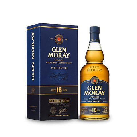 GLEN MORAY 18 YEARS OLD 70CL 47.2% - Aberdeen Whisky Shop