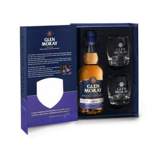Glen Moray Port Cask Finish & 2 glasses