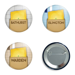 Subway Patties Buttons