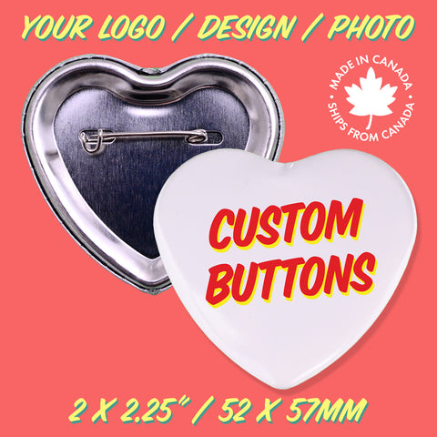 Custom Heart Shape Buttons