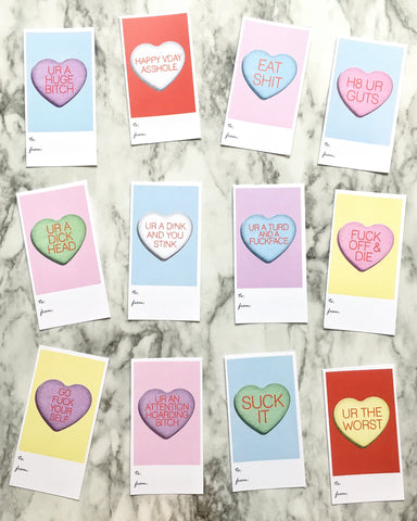 Bitter Hearts Valentine's Cards