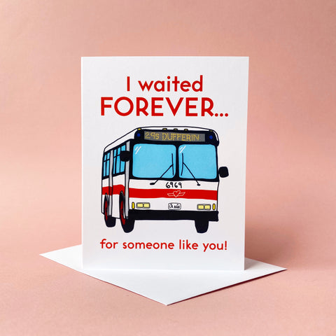 Dufferin Bus Greeting Card