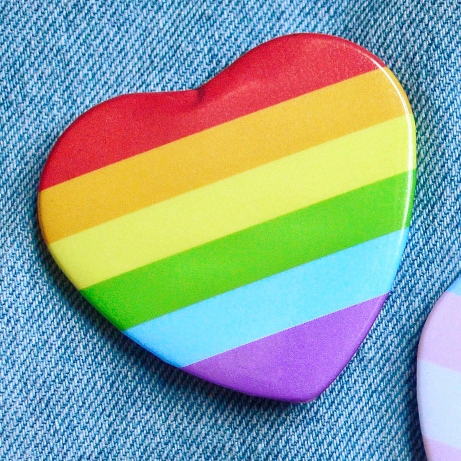 Proud Heart Buttons