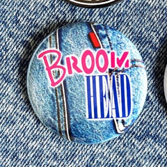 Broom Head Buttons
