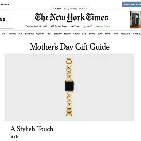 B&B in the New York Times Mother's Day Gift Guide