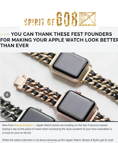 Our Apple Watch Bands on Spirit of 608