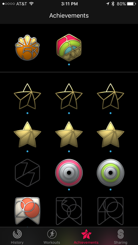 apple activity badges