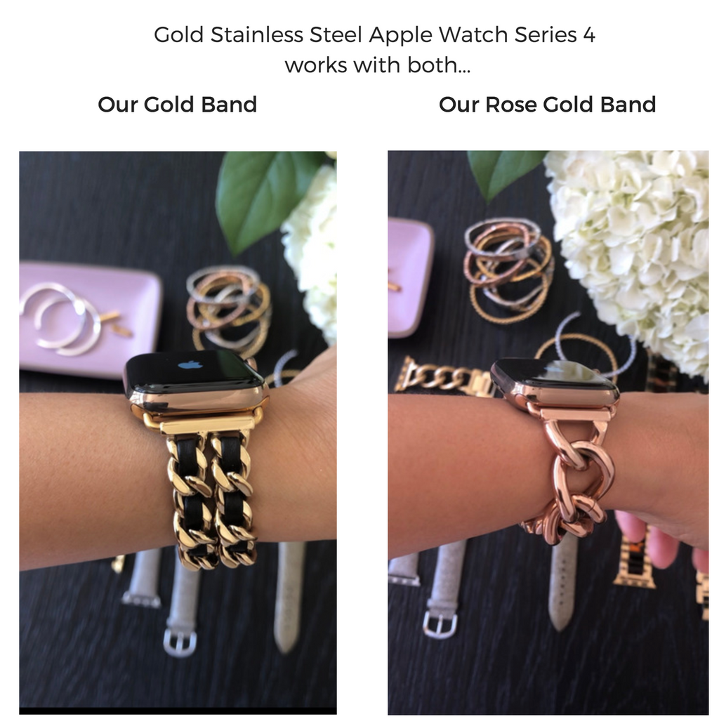 apple watch series 4 works with both gold and rose gold