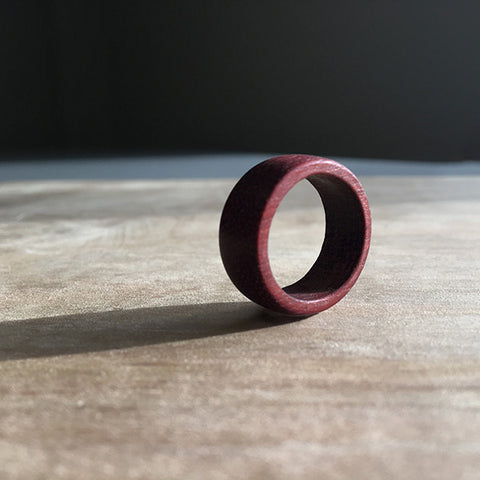 Purpleheart Unisex Wooden Ring
