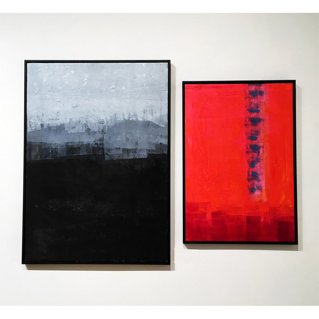 Black & Red diptych