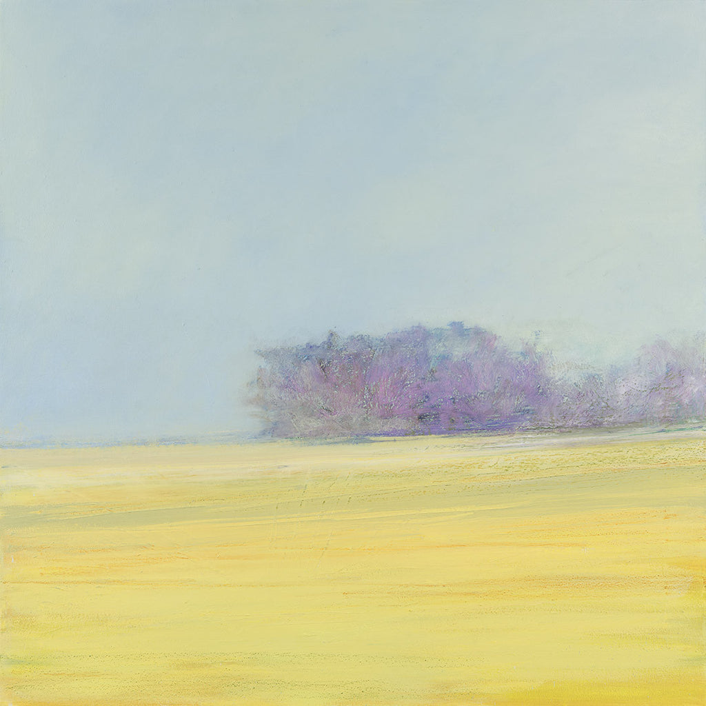Golden Field with Trees and Fog