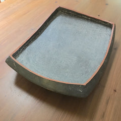 gray platter with low walls (#12.08.26.01)