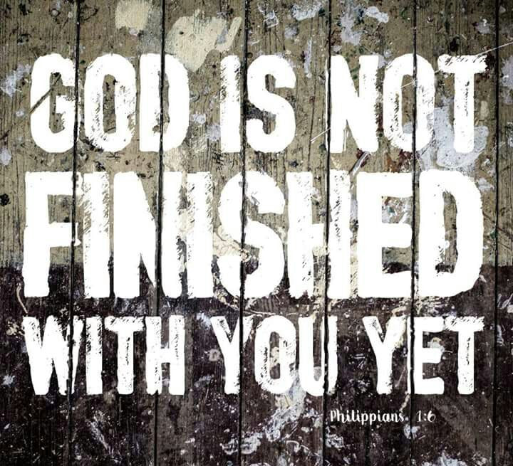 "Lay down or Pick up your Cross? ""God isn't Finished."""