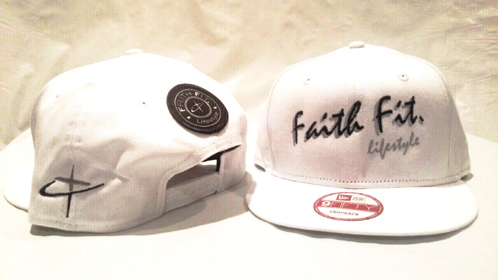 The Script. Faith Fit. Cap/ Snapback. White