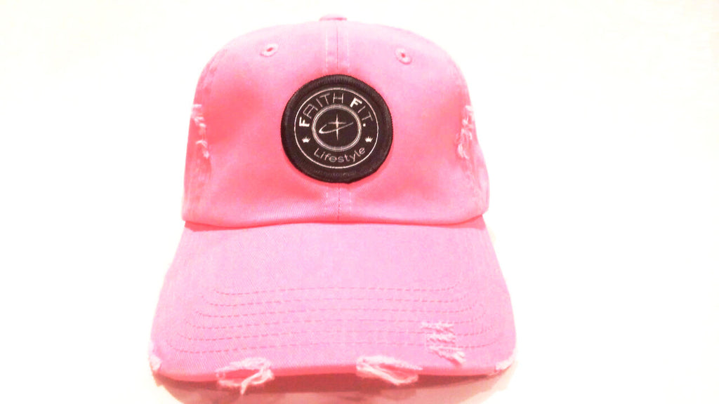The Movement. Faith Fit. Cap/ Frayed. Pink