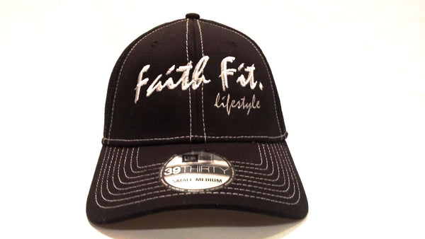 The Script. Faith Fit. Cap/Flex-Fit. Black