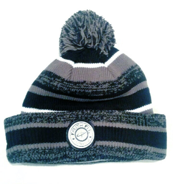 the-movement-sideline-pom-beanie-black/graphite
