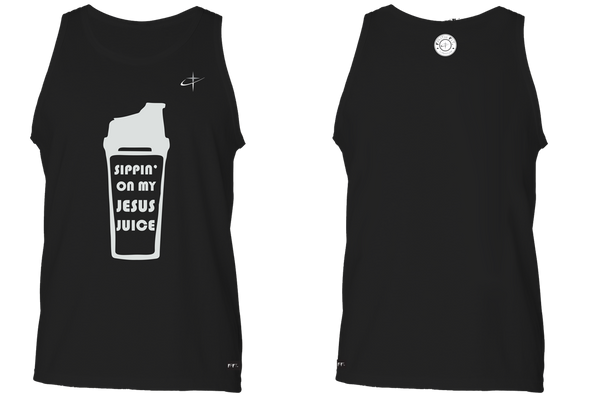 Jesus Juice. Faith Fit. Tank / Black-MENS