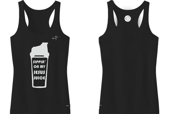 Jesus Juice. Faith Fit. Tank / Black-WOMENS