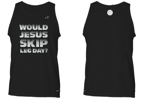 Leg Day Jesus. Faith Fit. Tank / Black-MENS