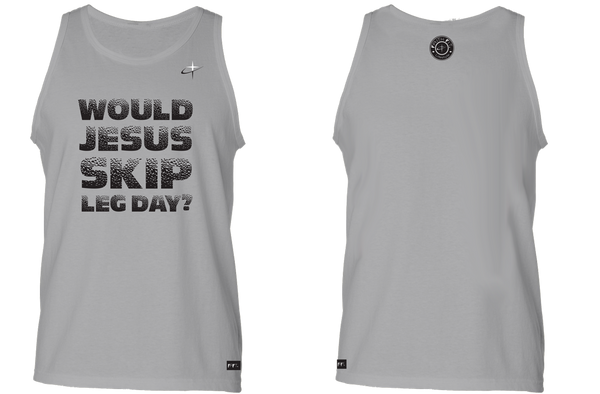 Leg Day Jesus. Faith Fit. Tank / Steel-MENS